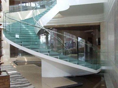 Curved Glass Hand Railing Nashik