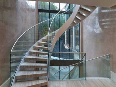 Curved Glass Railing Nashik