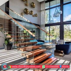 Modern Stainless Steel Glass Railing Nashik (13)