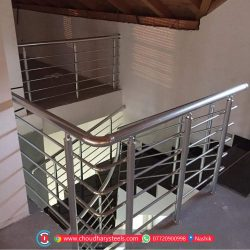 Modern Stainless Steel Glass Railing Nashik (57)