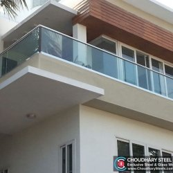 Modern Steel and Glass Railing Choudhary Steel Nashik (10)