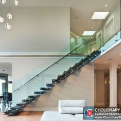 Modern Steel and Glass Railing Choudhary Steel Nashik (2)