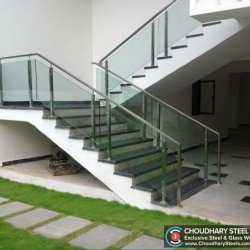Modern Steel and Glass Railing Choudhary Steel Nashik (4)