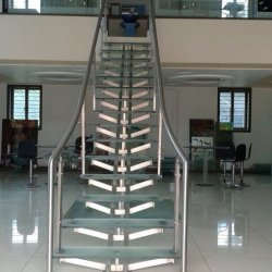 Modern Steel and Glass Railing Choudhary Steel Nashik (6)