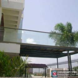 Modern Steel and Glass Railing Choudhary Steel Nashik (7)